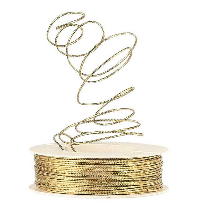 BINDEKORDEL MIT DRAHT | CA. 1,5 MM GOLD | ELASTIK-SCHLEIFEN, B?NDER ...